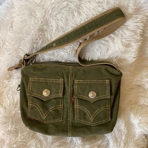 Levi's Olive Green Small Corduroy purse